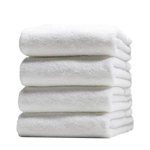 Melocotton 10 Toallas de Baño Completo Blanca 150x90 cm, 100% Algodón Peso: 650 Gramos. Ideal para SPA, Salones de Belleza, Gimnasios y Uso Personal