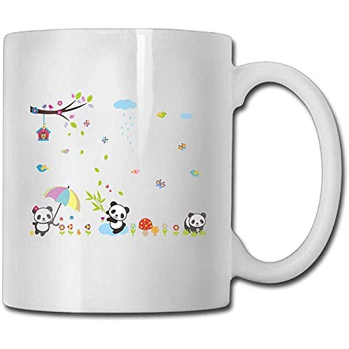 Cartoon Panda Vlinder Melissa Vogel Koffie Mok Mannen Kerstmis Geschenken Thee Beker, Des, Koffie Beker