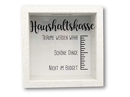 Unbekannt Spardose Bilderrahmen 14,5 x 14,5 cm Holz (Haushaltskasse)