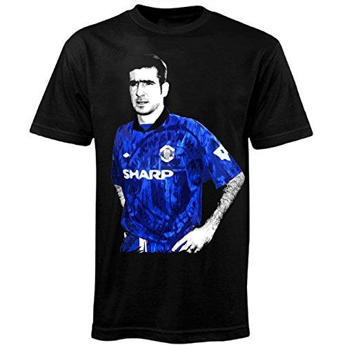 Manchester United - Camiseta retro - Con la leyenda del fútbol Eric...