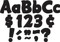 Teacher Created Resources Black Funtastic 4-Inch Letters Combo Pack (5453) by Teacher Created Resources