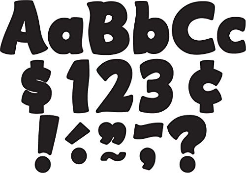 Teacher Created Resources Black Funtastic 4-Inch Letters Combo Pack (5453)
