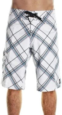 Reef Pier Mid Length Board Shorts in White