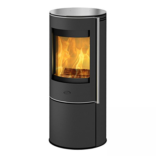 Fireplace K6021 Orando Kaminofen Stahl Schwarz | Topplatte Glas/A+