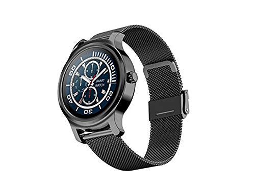 Reloj inteligente, contador de pasos, modo deportivo, detección de salud, teléfono móvil, Bluetooth 4.0, IP67, clasificación resistente al agua, compatible con Android e iOS (color: negro)