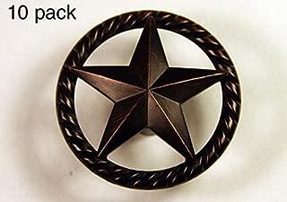 RAISED STAR KNOB ORB WESTERN CABINET HARDWARE DRAWER PULLS TEXAS STAR KNOBS (10)