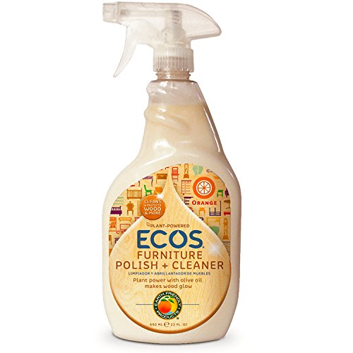 ECOS Non Toxic 22 Oz Bottle by Earth Friendly Products, Furniture Polish With Olive Oil, 44 Fl Oz, Pack of 2