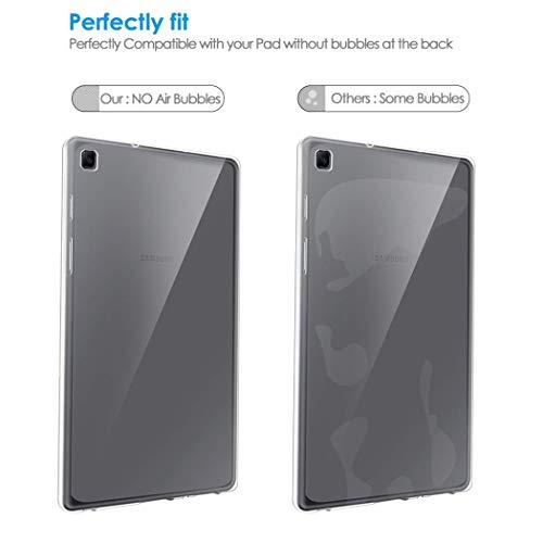 NUPO Hülle für Samsung Galaxy Tab A7 10.4 2020, Ultra Slim Translucent Soft TPU Silikon Tablet Crystal Durchsichtige Schutzhülle Case für Galaxy Tab A7 SM-T500/T505/T507 10.4 Zoll 2020 (Matt weiß)