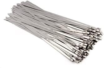 Highplus - 100 bridas de acero inoxidable para tubo de escape con revestimiento de cierre automático (4,6 x 150 mm)