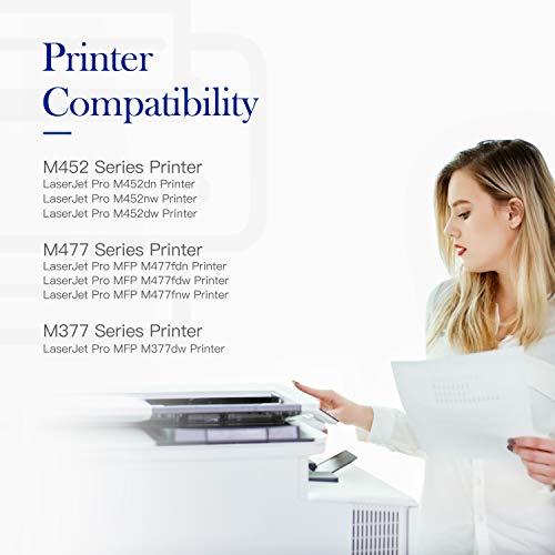 Valuetoner Compatible Toner Cartridge Replacement for HP 410A CF410A CF411A CF412A CF413A to use with Color Laserjet Pro MFP-M477fdw-M477fdn M477fnw-M452dn-M452nw M452dw M477 M452 Printer (4-Pack) Photo #5