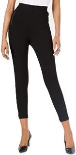 Alfani Curvy Zip-Detail Leggings, Black Small