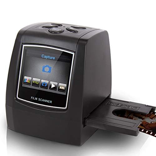 Film Scanner and Slide Digitizer - All in 1 22MP Slide Digital Film Slide Scanner, Image Converter, Compatible w/ Super-8 Film, 126 KPK Film, Converts 35mm Slides and Negatives - Pyle PSCNPHO32