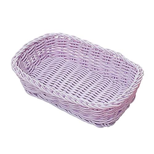 TIEHH Cesta de Frutas de Almacenamiento, Cesta de Escritorio, Accesorios de Fotos, Cesta de Frutas de encimera, decoración de Almacenamiento en casa Cesta de Color Dulce (Color : A Purple)