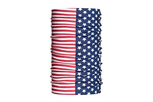 HeadLOOP Multifunktionstuch Verschiedene Flaggen Schal Halstuch Schlauchtuch (USA 3)