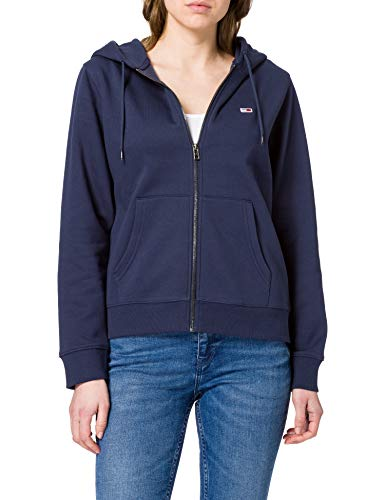 Tommy Jeans Tjw Regular Hoodie Zip Through, Sudadera con capucha Mujer, Azul Marino (Twilight Navy), S