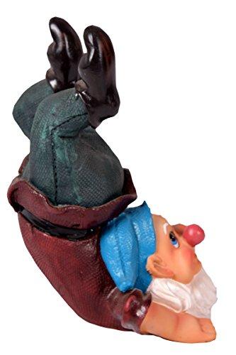 Gartenzwerg Zwerg macht Handstand Gartenfigur 25×15 cm – 378 - 3