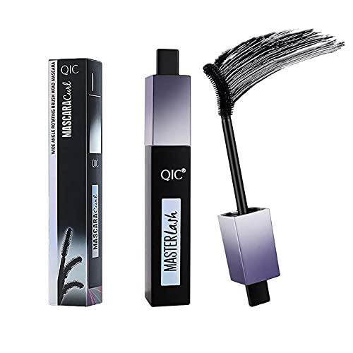 ZAYALI 2Pcs Rotating Brush Head Waterproof Mascara, Voluminous Makeup Lash Paradise Mascara, 4D Silk Fiber Lash Mascara, 360 Bendable Makeup Eye Lashes Long-Lasting Thicker Curling