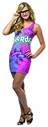 woman dressed in sexy nerds dress nerds candy