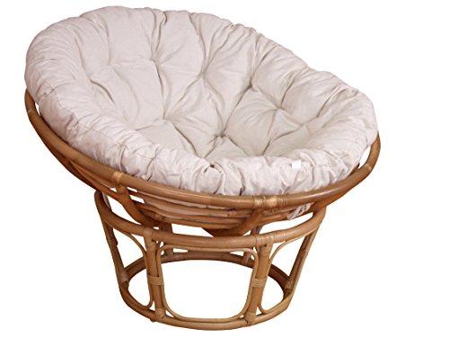 moebel direkt online Papasansessel, Durchmesser 110 cm Sessel mit Kissen