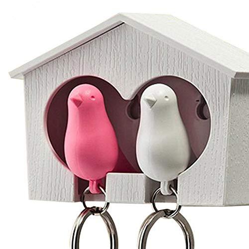 N/ A Set 2 Llavero pájaro +casa Nido Silbato
