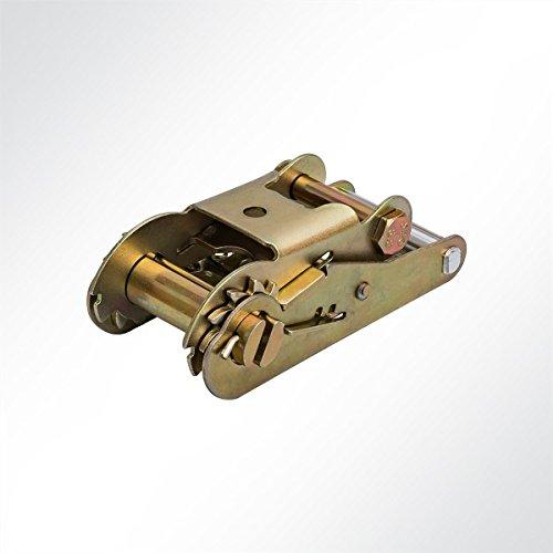 LYSEL ratel voor sjorriem druk-ratel spanriem voor 50 mm spanbanden 1 Stück, 5000 Kg, 50 mm (B) messing