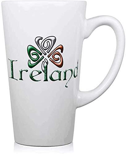 jifyasuo Ireland.PNG Taza de café de cerámica Taza Divertida Vaso de Leche Grande Taza de Agua Regalo de cumpleaños de 17 oz Regalo de San Valentín