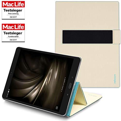 reboon Hülle für Asus ZenPad 3S 10 Tasche Cover Hülle Bumper | in Beige | Testsieger