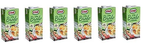 6X Star Brodo Vegetariano Brodo Liquido Ricco di Sapore Piatti Pronti 1Lt