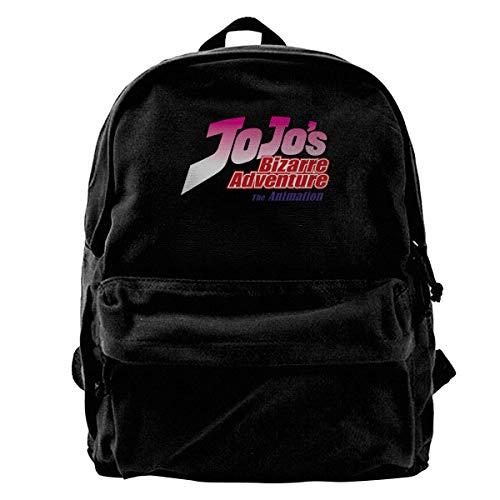 Yuanmeiju Fashion Canvas Backpack JoJo's Bizarre Adventure Laptop Backpack Fashion Theme School Backpack