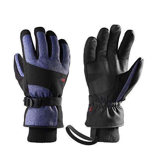 Hdggzkm Waterdichte skihandschoenen Thermo Winter snowboard fietsen sneeuwscooter warme handschoenen handwarmer tas 3M geïsoleerd