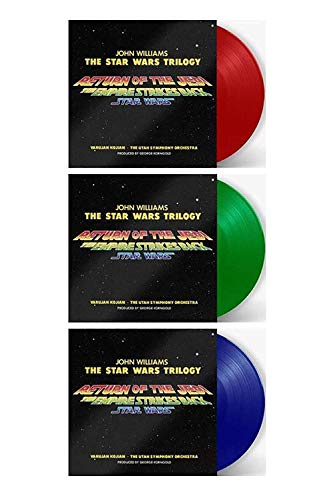 Star Wars Original Trilogy Original Motion Picture Score - Exclusive Limited Edition RANDOM COLORED Light Saber Red, Blue Or Green Vinyl LP [Condition-VG+NM-]