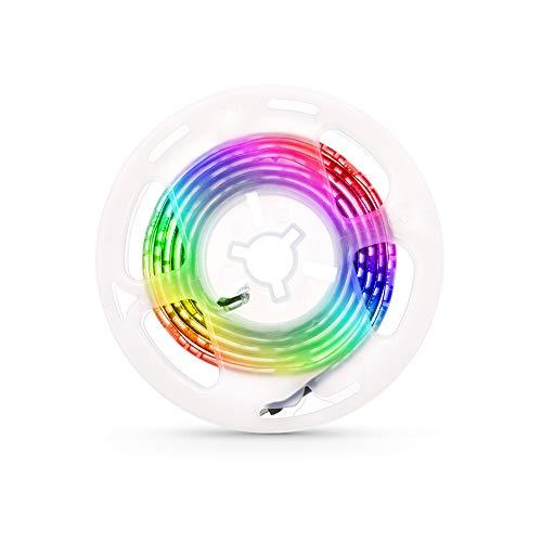 Docooler LED-Computergehäuse Streifenleuchte Flexible RGB-Lampenbanddiode 5V Schreibtischbildschirm Hintergrundbeleuchtung USB-betriebene 3-Tasten-Steuerung