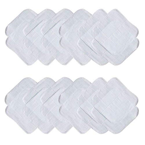 Neat Solutions 24 Piece Washcloth Set, Solid White