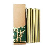 10 pièces en bambou : fabriqué en bambou naturel. Il utilise une méthode de broyage manuel du bambou au lieu d'utiliser de la colle. Vert : les pailles ForeWan sont fabriquées avec un processus sain. Nos produits n'utilisent pas de colle, contraireme...