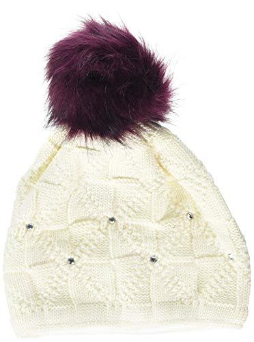 Döll Baby-Mädchen Pudelmütze Strick Mütze, Weiß (Snow White 1050), 49