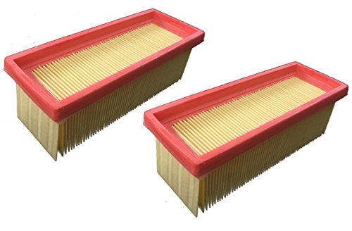 2x Filter passend für Kärcher - A 2701 / A 2731 pt/A 2801 plus/K 2501 / K 2501 TE/K 2601 plus/K 3001 / NT 181 profi/SE 2001/ SE 3001 / SE 5100 / SE 6100