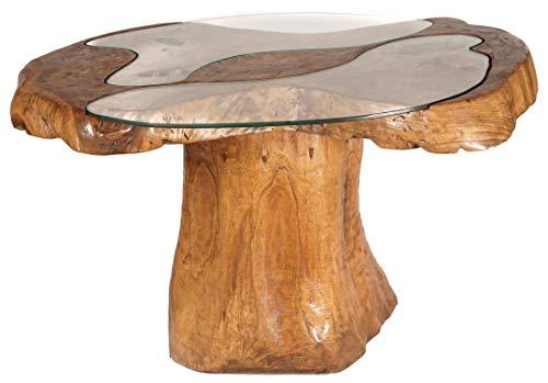 Windalf Design Lucia - Mesa de comedor (130 cm, con 2 placas de cristal, hecha a...