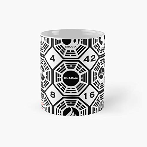 Lost Dharma Stations with The Numbers - Taza de café con números
