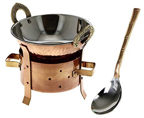 Zap Impex ® Original Indian 3 Stück Servierset / Karahi Angithi Vorlegelöffel , Edelstahl, Set für 1 Portion / Person