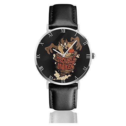 Orologio da Polso al Wrist Watch Analogue Quarzo con Cinturino in PU Watches Vintage Looney Tunes Tasmanian Devil Taz