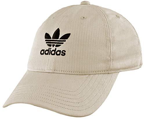 adidas Originals Men's Relaxed Strapback Cap, Khaki/Black, ONE SIZE