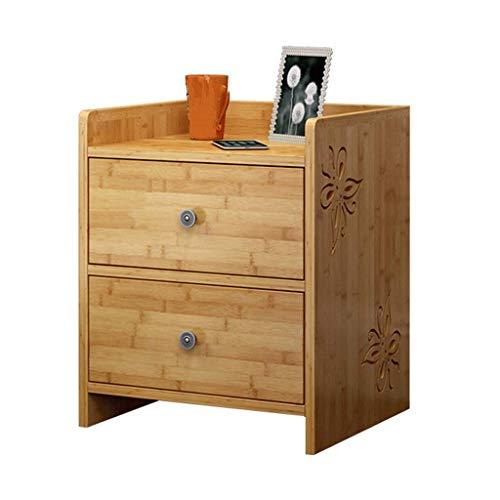Grote haai nachtkastje met houten bank bed zijkast voor slaapkamer 2 lades bamboe materiaal meubilair slaapkamer nachtkastje tafel cabine kan ook worden gebruikt als een woonkamer salontafel