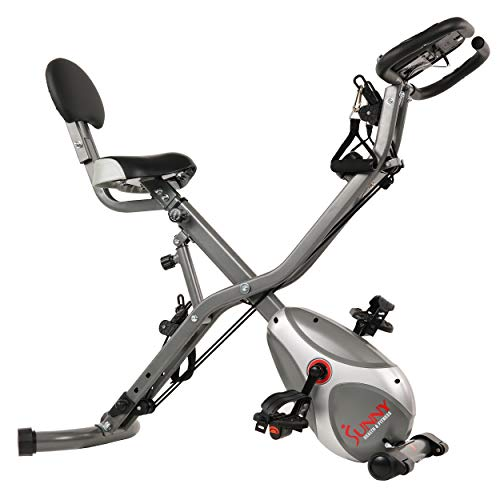 Sunny Health & Fitness Foldable Semi-recumbent Bike