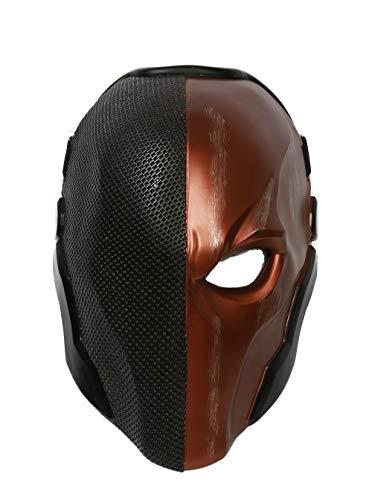 Xcoser Halloween Helm Spiel Arkham Cosplay Kostüm Harz Maske für Herren Kleidung Merchandise Zubehör (Black Orange)