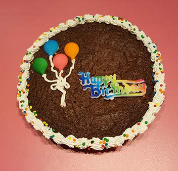 Happy Birthday Brownie Cake 2 LB / 10 Inch – Freshly baked; rich, fudgy and delicious – Perfect Bi