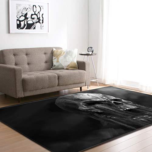 XQAQX tapijt, tapijt en onderlaag, skelet, Europes, woonkamer, slaapkamer, restaurant, eetkamer, tapijt, antislip, voor ondervloeren 122*160cm H