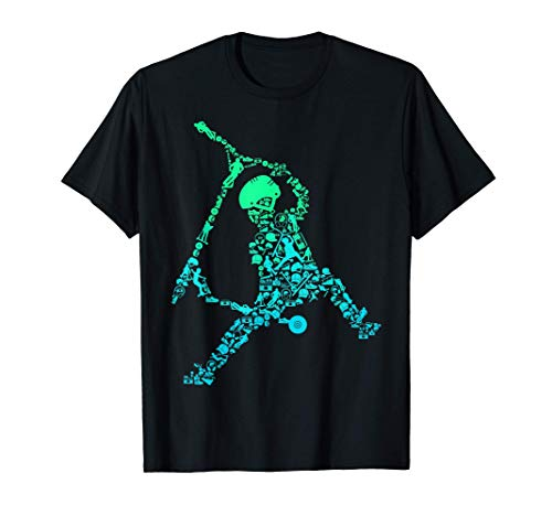 Scooter Stunt Tretroller Geschenk für Jungen & Kinder T-Shirt