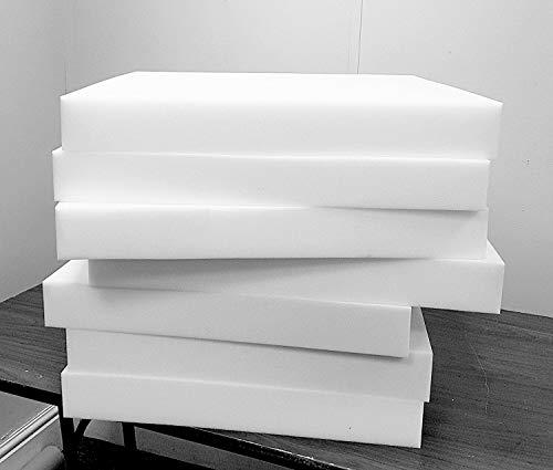 Ersatzpolster für Polstermöbel, Schaumstoff, verschiedene Stärken zur Auswahl (45 x 45 x 12,5 cm)