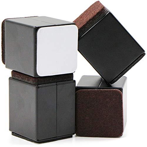Elevador de muebles de acero al carbono, 5,2 cm, 4 cm de ancho, 4 cm de longitud, autoadhesivo, elevador de muebles, elevador de muebles, elevador de mesa, para cama, patas de mesa, muebles, sofás.