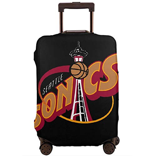 Luggage Cover Makeheal Seattle Super-Sonics Travel Suitcase Protector Zipper Suitcase Cover Washable Fashion Printing Luggage Cover Zipper Travel Suitcase Protector